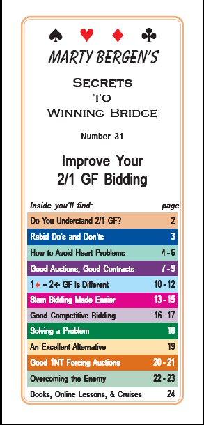 Marty Bergen's Secrets to Winning Bridge Booklets